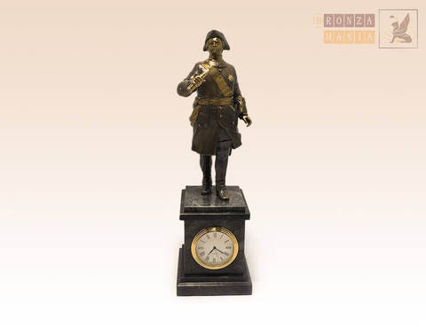часы Петр 1 с трубой