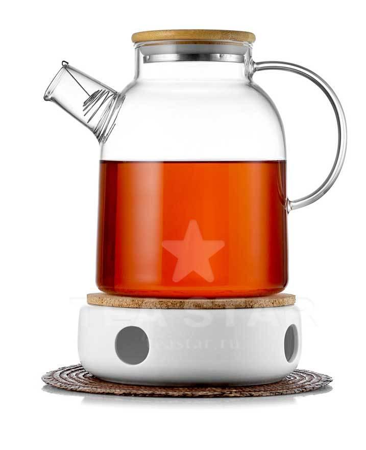 Заварочные стеклянные чайники Чайник стеклянный с подогревом от свечи, 1,5 литра chainik_s_podogrevom_svechey-1500.jpg