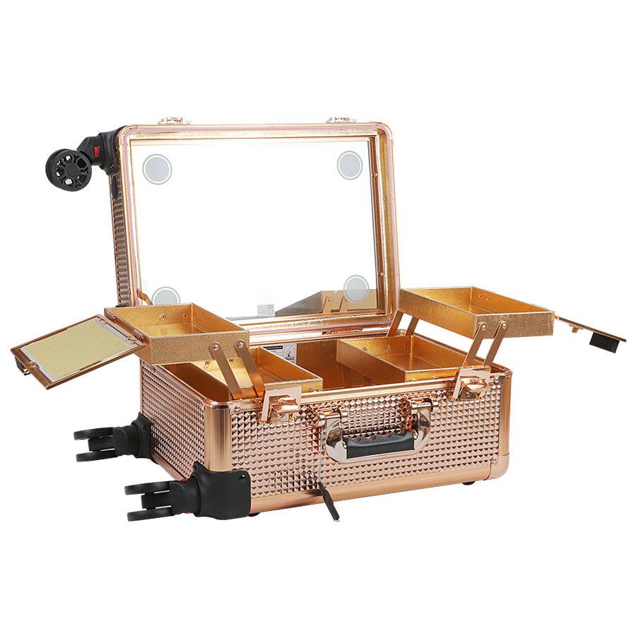 Мобильные студии визажиста Бьюти кейс визажиста на колесиках (мобильная студия) LC7006 Gold Бьюти-кейс-визажиста-LC-7006-1.jpg