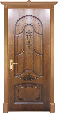 Дверь Prestigio Болония, цвет мореный дуб/патина орех, глухая