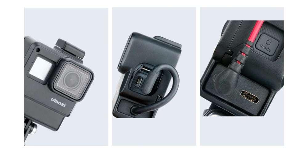 Рамка для микрофона HERO5/6/7 Black ULANZI V2 с разных сторон