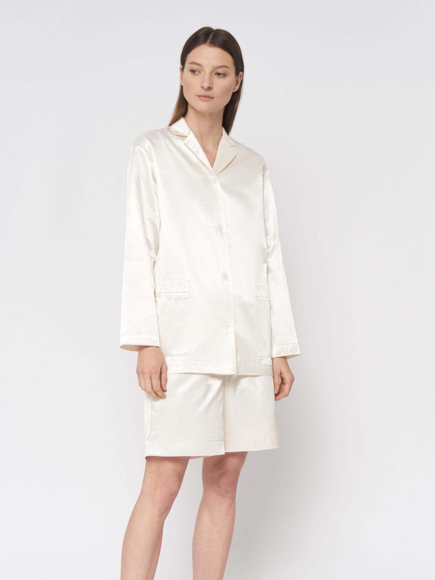 Блуза атласная Denise в пижамном стиле