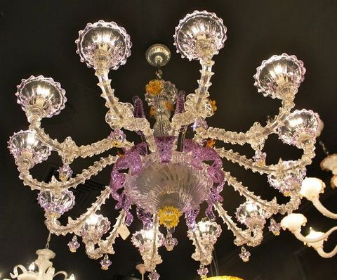 murano chandelier  ARTE DI MURANO 12-16  by Arlecchino Arts ( HK)