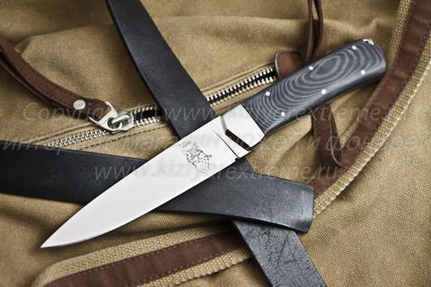 Туристический нож Лис Полированный Микарта