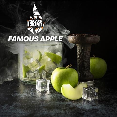 Табак Burn Black Famous Apple (Зеленое яблоко лёд) 200 г