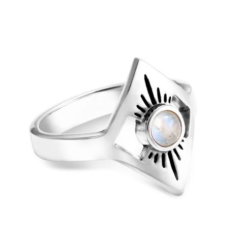 Кольцо STELLAR - Лунный камень