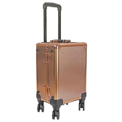 Бьюти кейс визажиста на колесиках (мобильная студия) LC7006 Gold