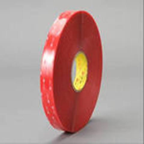 Скотч двусторонний 3М 4910F, прозрачный, вспененный, акрилатный, толщина - 1,0 мм