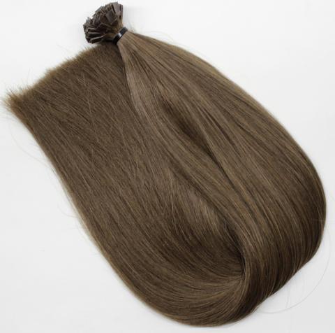 Волосы на кератиновых капсулах цвет Натуральный темный русый -52 см