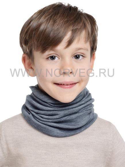 Детский баф с шерстью мериноса Norveg Монстр 7WBU серый