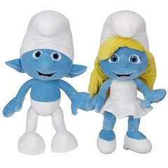 The Smurfs Movie Bean Bag Plush Series 01 - Set of 2