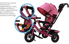 Детский трёхколёсный велосипед с ручкой и музыкой ( оранжевый ) Sweet baby - колёса надувные