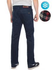 LN857 джинсы мужские утепленные, синие