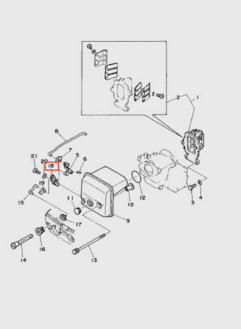 Рычаг подсоса  для лодочного мотора T15, OTH 9,9 SEA-PRO (4-18)