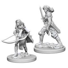 Pathfinder Deep Cuts Unpainted Miniatures - Human Female Fighter