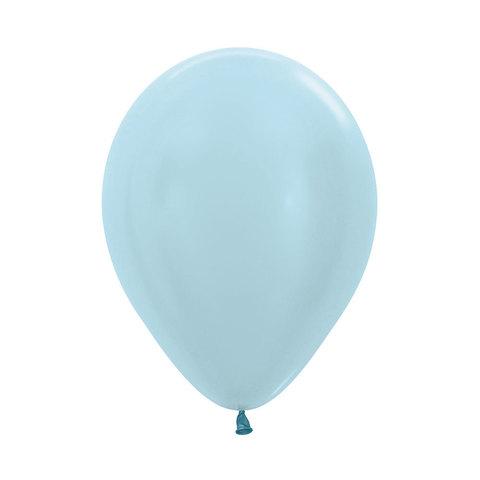 Латексный воздушный шар, цвет голубой перламутр