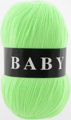 Пряжа Baby (Vita) 2878 Ультра-салатовый фото