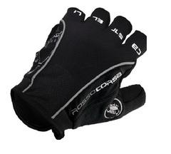 Велосипедные перчатки Castelli Rosso короткие (черные)
