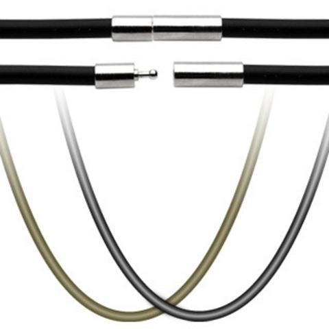 Шнур на шею (чокер) каучуковый коричневый 3 мм 45 см с замком SPIKES SSN-7162SB