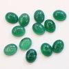 Кабошон овальный Агат Зеленый резной 10х8х4 мм