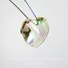 6228 Подвеска Сваровски Сердечко Crystal Luminous Green (14,4х14 мм)