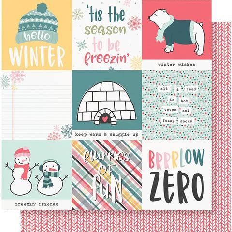 Лист двусторонней бумаги 30х30 см - Simple Stories Collection - Freezin' Season