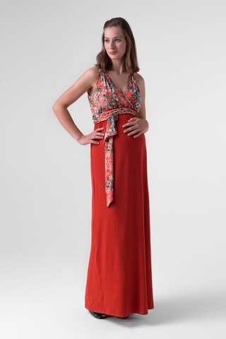 Платье для беременных 00490 кирпичный