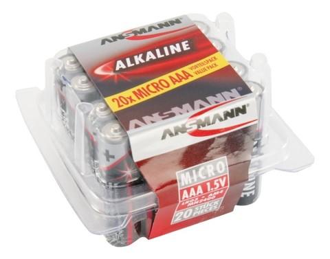 Батарейка Red AAA ANSMANN 1,5V - 20 шт в упаковке