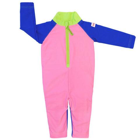 Плавательный костюм, plain pink/blue/green, 98-104 см./ 2-4 г., арт.505043