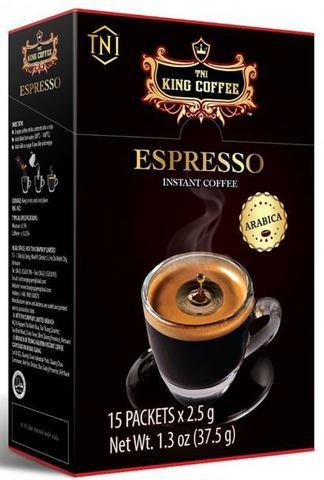 Растворимый черный кофе TNI King Coffee ESPRESSO - 15 х 2,5 гр.