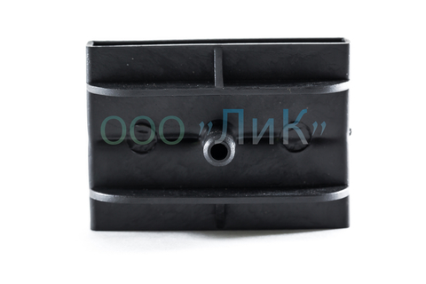 Латодержатель 63 мм двойной, проходной черный с перегородкой
