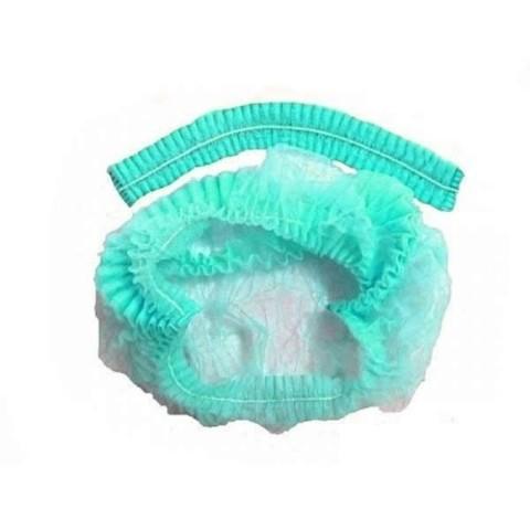 Шапочка-шарлотка одноразовая (1уп - 100шт) зеленая