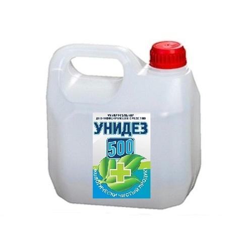 концентрат УНИДЕЗ 500 антимикробный  раствор  5 литров Антисептик на основе хлора и и гидропероксида