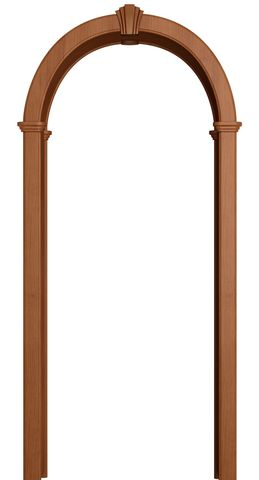 Арка межкомнатная ПВХ Лесма, Романская, цвет итальянский орех