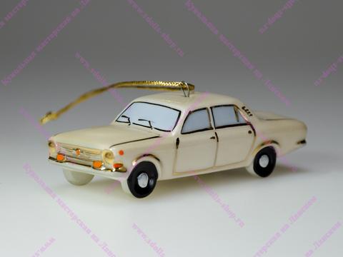 Фарфоровая елочная игрушка ГАЗ 2410 Волга
