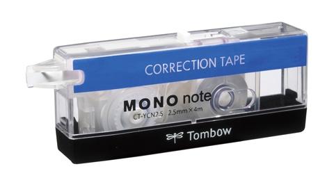 Ленточный штрих-корректор Tombow Mono Note (2,5 мм - сине-бело-черный)