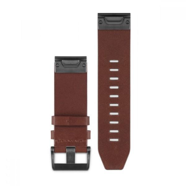 Кожаный ремешок Garmin QuickFit 26 мм коричневый