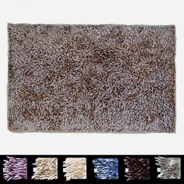 Коврик для ванной 60x110 Manifattura Lombarda Shaggy серый