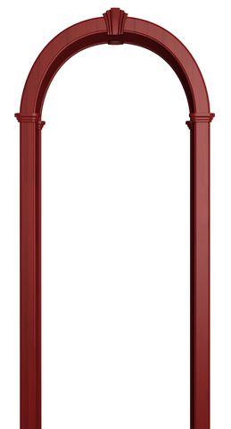 Арка межкомнатная ПВХ Лесма, Романская, цвет красный клён