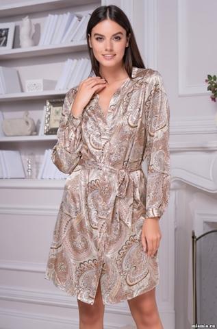 Рубашка халат на пуговицах Mia-Amore CLEMENTINA КЛЕМЕНТИНА 3455