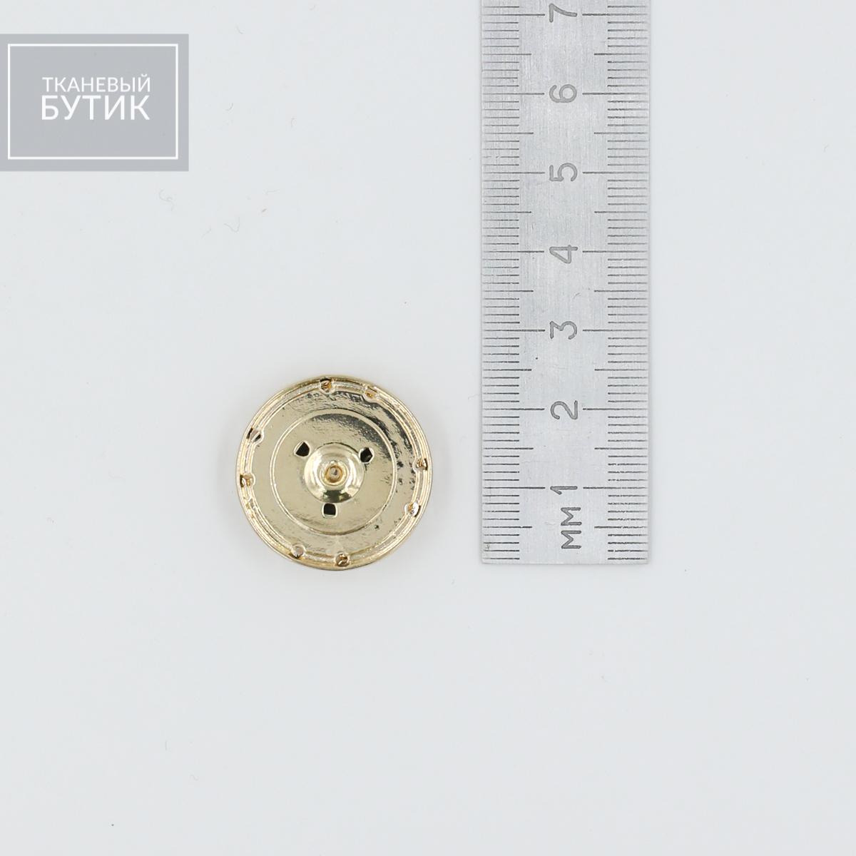 Массивная металлическая кнопка с черной эмалью