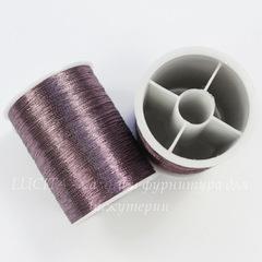 Нить металлизированная для вышивки бисером, 0,1 мм, цвет - бургунди, примерно 55 м
