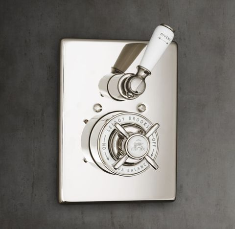 1900 Classic Balanced Pressure Shower Valve & Trim Set with Diverter - White