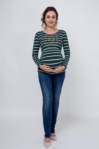 Блузка для беременных и кормящих 08916 зеленый