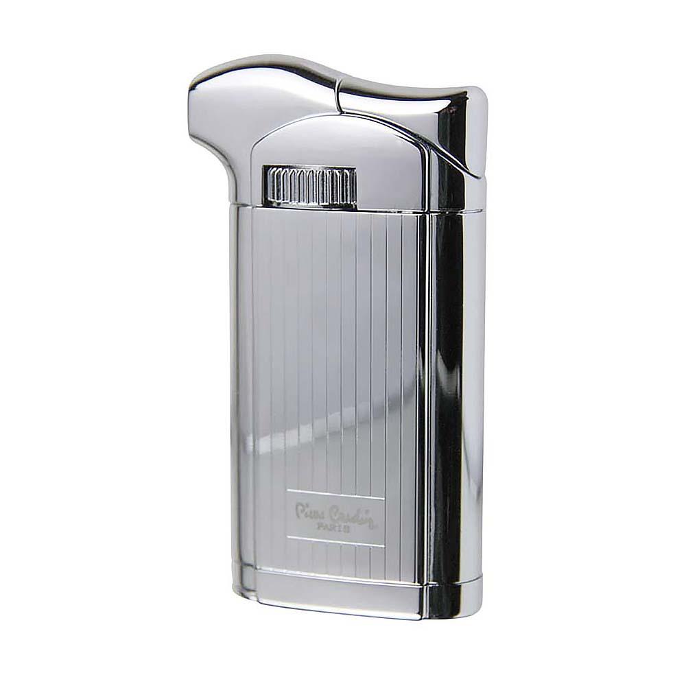 Зажигалка Pierre Cardin газовая пьезо, для трубок, цвет серебристый с гравировкой, 3,5х1,4х7,2см