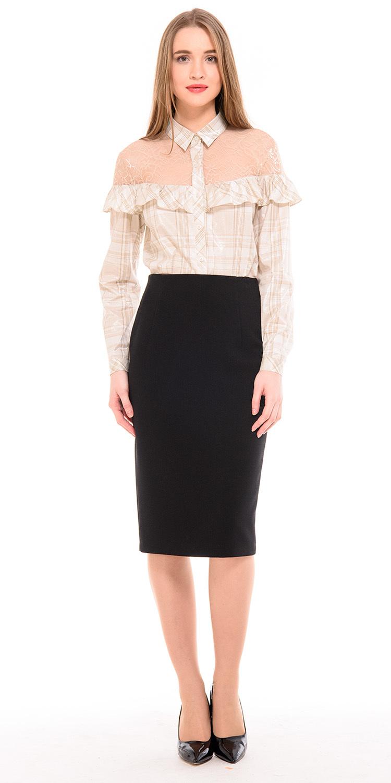 Юбка Б089-164 - Стильная юбка-карандаш на подкладке из плотной эластичной ткани. Юбка идеально сидит на любой фигуре придавая стройность и элегантность.