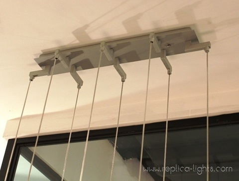 replica Flos Original Fucsia 12 Glass Chandelier