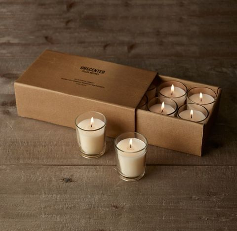 Unscented Filled Votives (Set of 8) - Ivory