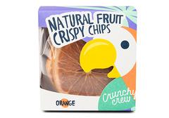 Чипсы апельсиновые Crunchy Crew кольца, 70г