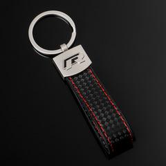 Брелок Фольксваген Р (Volkswagen R) для ключей автомобиля с логотипом, черный